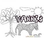 Yannis, coloriages Yannis
