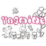 Yasmine, coloriages Yasmine