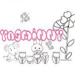 Yasminy, coloriages Yasminy