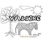 Yassine, coloriages Yassine