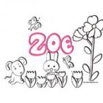 Zoe, coloriages Zoe