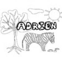 Adrien, coloriages Adrien
