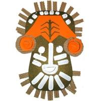 Bricolage masque africain