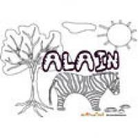 Alain, coloriages Alain