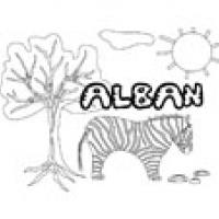 Alban, coloriages Alban