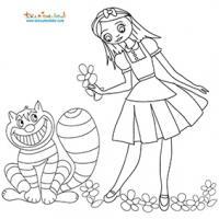 Coloriages Alice au pays des merveilles