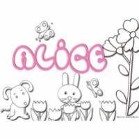 Activités sur le prénom Alice