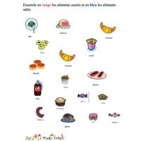 Distinguer les aliments sucrés et salés