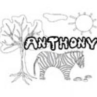 Anthony, coloriages Anthony