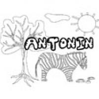 Antonin, coloriages Antonin