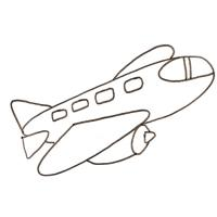 Coloriage d'un avion