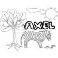 Axel, coloriages Axel