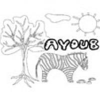 Ayoub, coloriages Ayoub