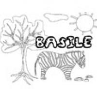 Basile, coloriages Basile