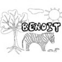 Benoit, coloriages Benoit