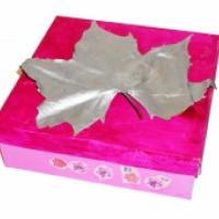 Fabriquer une  boîte décorée de feuilles