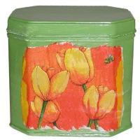 Boite verte de décoration pas cher aux serviettes