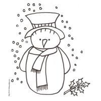 coloriage d'un bonhomme de neige