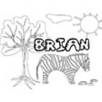 Brian, coloriages Brain