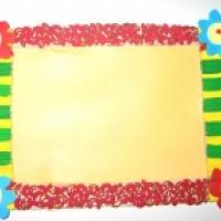 Mode d'emploi pour réaliser un cadre décoré de pâtes