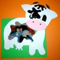 Cadre photo vache, carterie papeterie