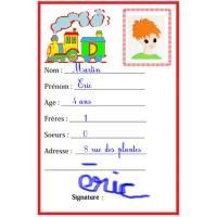 Enfants Carte Les D'identité Pour