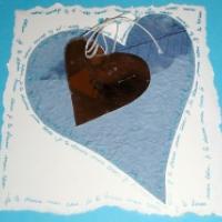 Carte coeur bleu
