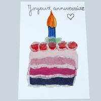 Carte gâteau d'anniversaire