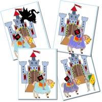 Carte d'anniversaire chevalier, carte d'invitation d'anniversaire chevalier