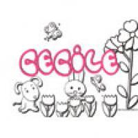Cecile, coloriages Cecile