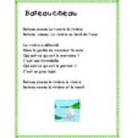 Comptine lettre B