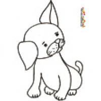 Coloriage de petits chiens