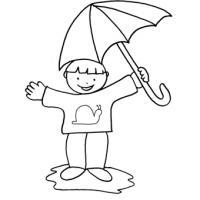Coloriage Petite Fille Parapluie.Dessins Pour Colorier Des Enfants Coloriages D Enfants