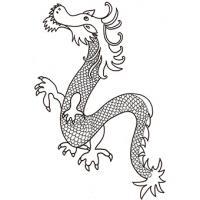 Coloriage dragon du nouvel an chinois
