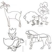 Coloriage Simple Animaux De La Ferme.Coloriages Des Animaux De La Ferme Tete A Modeler