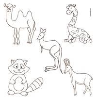 Coloriage des animaux du monde