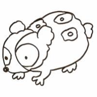 Coloriage cochon d'inde