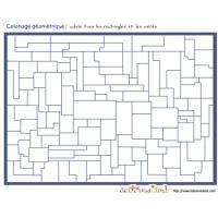 jeu de coloriage de formes géométrique