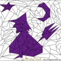 Jeux de coloriage géométrique : Halloween