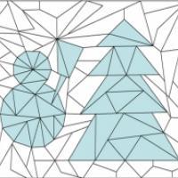 Jeux de coloriage géométrique : hiver et Noël