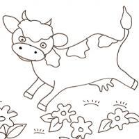 Coloriage Des Vaches Sur Tête à Modeler