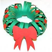 Couronne Noël en papier simple