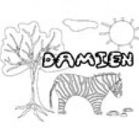 Damien, coloriages Damien