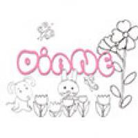 Diane, coloriages Diane