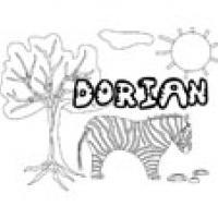Dorian, coloriages Dorian