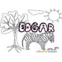 Edgar, coloriages Edgar