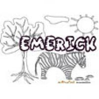 Emerick, coloriages Emerick
