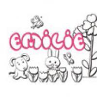 Emilie, coloriages Emilie