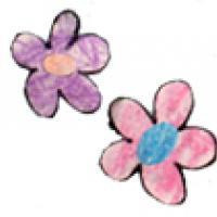 Faire des fleurs coloriées avec les petits