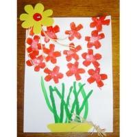 Fleurs en carton de récupération